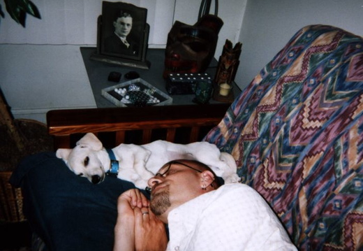 Brian Napping with Dogs