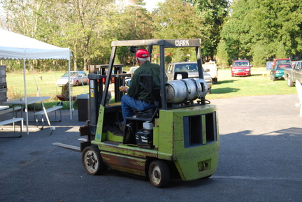 Dad on Forklift
