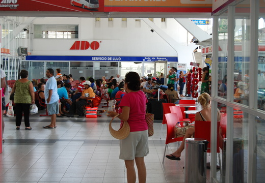 Inside Cancun Bus Station