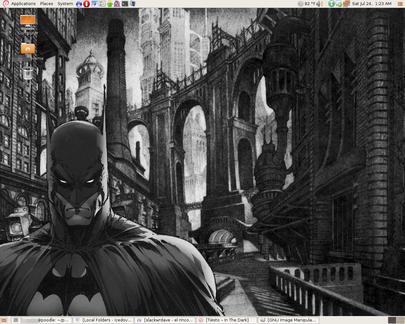 Batman Gnome Desktop