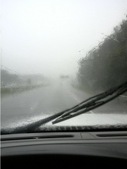 Driving in Heavy Rain on I-26