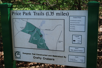 Price Park Trail Map