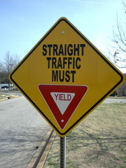Straight Traffic Must Yield -- 3/10/09