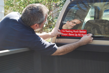 Placing Sticker