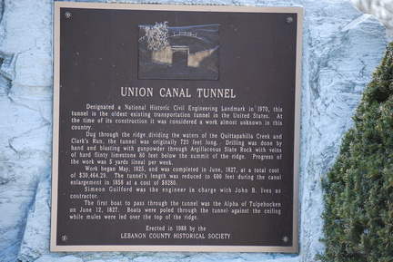 Union Canal Tunnel Plaque