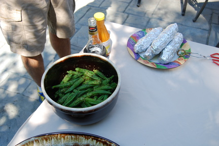 Okra, Beer, Carolina Treet and Corn