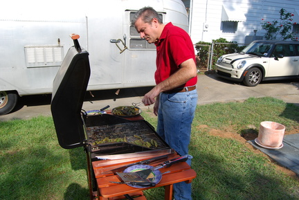 David Working the Grill