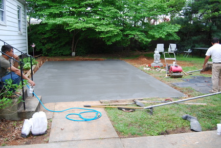 Cement Poured and Leveled