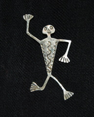 Mexican Skeleton Kilt Pin