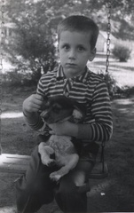 Fred Jr. with Puppy
