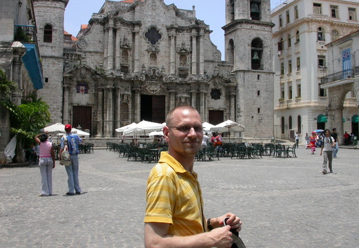 Brian Outside the Cathedral