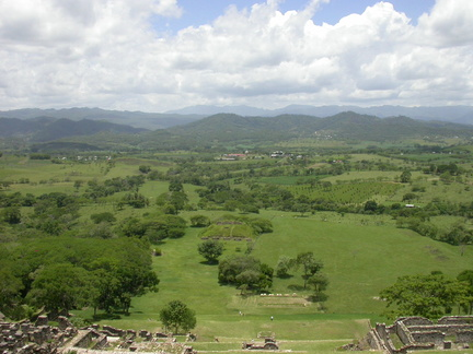 Chiapas Countryside from Tonina Pinnacle