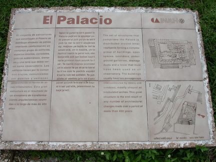 Plaque for the Palacio