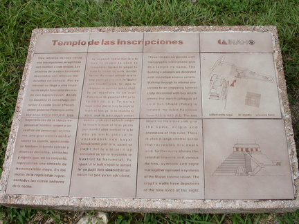 Temple of Inscriptions Plaque