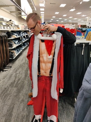 Brian modeling the good stuff at Target.