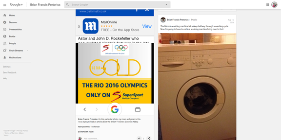 Screenshot 2019-03-31 Brian Francis Pretorius - Google+22