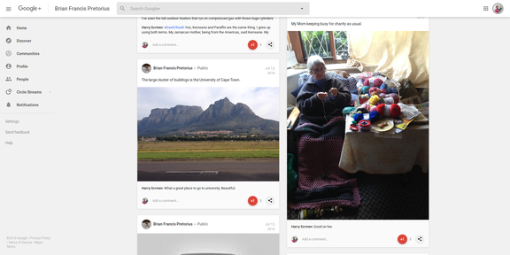 Screenshot 2019-03-31 Brian Francis Pretorius - Google+27