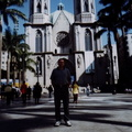 David in front of São Paulo Cathedral