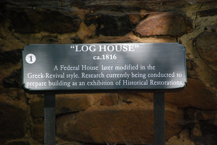 Log House Sign at Bethabara Park