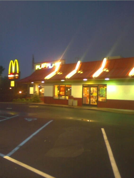 McDonald's Just Before Dawn, Clemson, SC -- 5/29/09