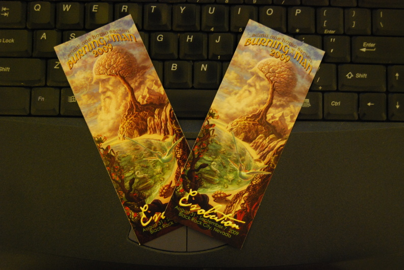 Burning Man Tickets -- 2/13/09