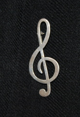 Treble Clef Kilt Pin