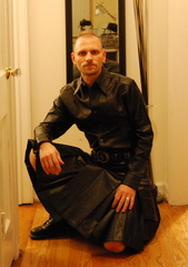 Leather Union Kilt