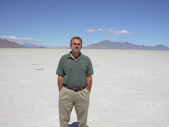 David at Bonneville Salt Flats