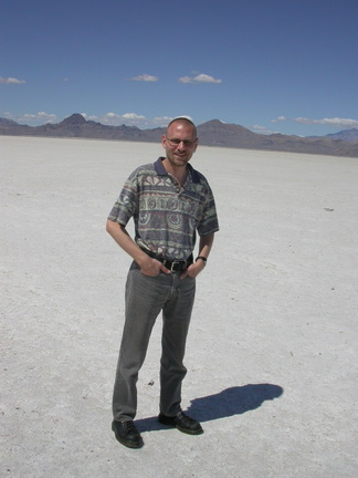 Brian at Bonneville Salt Flats